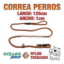 CORREA PERRO NYLON ESTRANGULADORA CON QUITAVUELTAS 150cm Largo L88 2235
