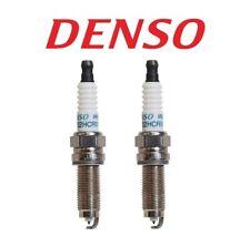 Pair Set 2 Spark Plugs Denso Iridium for Acura Dodge Honda Hyundai Kia Porsche
