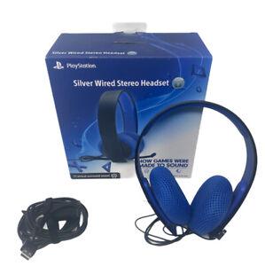 Sony Playstation Silver Headband Headsets for PS4 PS3 PS Vita