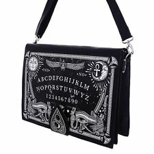 Restyle Ouija Board Planchette Occult Gothic Faux Leather Messenger Hand Bag