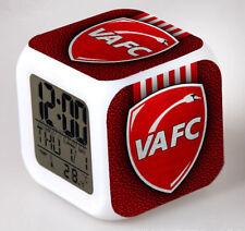 Réveil numerique Digital VALENCIENNES Cube à effet lumineux alarme football