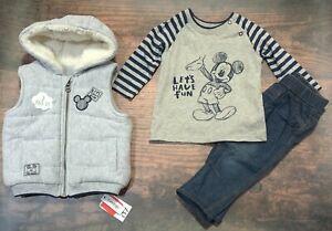 Disney Baby by George Boys 3 Piece Set Size 6-9 months