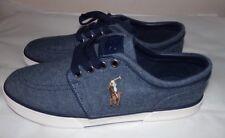NEW Polo Ralph Lauren Men's Faxon Low Sneaker~BLUE~SZ9.5