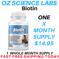 Biotin Capsules 10,000mcg - Maximum Strength - Hair Skin Nails - Hair Loss AUST