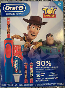 Oral-B Rechargeable Toothbrush + Kids Crest Toy Story. New Sealed