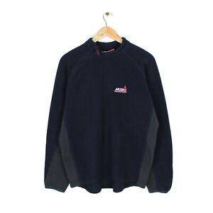 Musto Mens 1/4 Side Zip Blue Pullover Fleece Jumper Sweatshirt - Size M