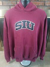 SIU Southern Illinois University Salukis NCAA Hooded Sweatshirt Mens Sz 3XL XXXL