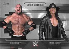 2017 Topps WWE Undisputed Dream Match Silver #D8 Goldberg vs Undertaker #11/50