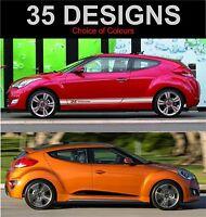 Hyundai Volester Calcamonías de Rayas Laterales Ambos Lados