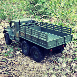 WPL B-16K 1/16 6WD Military Truck RC Off-road Crawler with Light Motor & B0W3