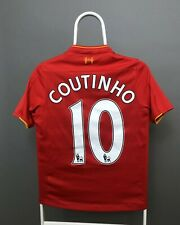 LIVERPOOL JERSEY COUTINHO FOOTBALL SHIRT 2016 2017 HOME SIZE YOUTH L NEW BALANCE