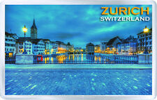 ZURICH SWITZERLAND FRIDGE MAGNET SOUVENIR NEW IMÁN NEVERA