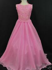 NEW GIRL NATIONAL PAGEANT WEDDING FORMAL PARTY DRESS PINK SIZE 5 6  7 8 12 14