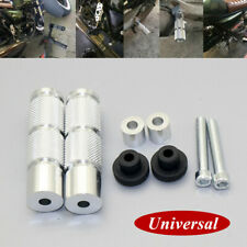 Universal Motorcycle Rearset Footrests Footpegs Foot Pegs Pedals CNC Aluminum