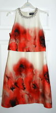 Little Mistress Two Tier Floral Printed Shift Dress UK Size 10