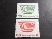 PEROU, PERU, LOT 2 timbres ART OISEAUX, neufs**, MNH