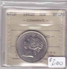 1882H NEWFOUNDLAND 50 CENT COIN ICCS CERT EF-40