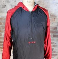 VTG 90s Nike Windbreaker Jacket Men's Size M W/ Hood Reversible White Tag BRED