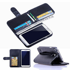 New Card Holder Flip Wallet Leather Case Cover For Samsung Galaxy S6