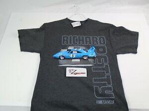 Richard Petty #43 X-Large Gray Tee Shirt Plymouth Superbird Shirt NASCAR Racing