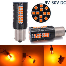 2x No Hyper Flash CANBUS Amber 1156 P21W 7506 1156A LED Turn Signal Lights Bulbs