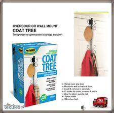 OVER DOOR OR WALL MOUNT TREE HOOKS WASH ROOM COAT HANGER CLOTHES TOWEL STORAGE
