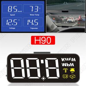 HUD Car OBD2 Head Up Digital Display Speedometer KM/H &MPH  Water Temp Voltmeter