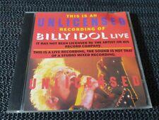 Billy Idol - Live Mountainview Ca - 1993 Sw Cd - Aus press rock pop