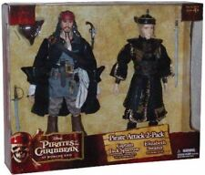 "PIRATES OF THE CARIBBEAN POTC JACK SPARROW ELIZABETH SWANN RARE 12"" FIGURE SET"