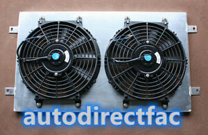 Aluminum Shroud + Thermo Fans For Holden & Chevy HQ HJ HX HZ 253 & 308 V8