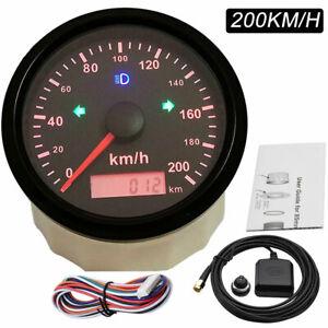 85mm 0-200Km/h GPS Speedometer Odometer Gauge For Car Truck ATV Motorcycle Boat