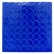 """BLUE Reflective Adhesive Vinyl Mailbox Dots - 64 Stickers per Sheet - 1"""" Wide"""