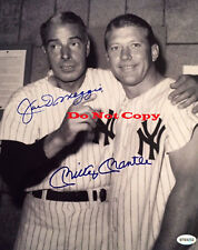 Joe DiMaggio Mickey Mantle autographed 8x10 photo RP
