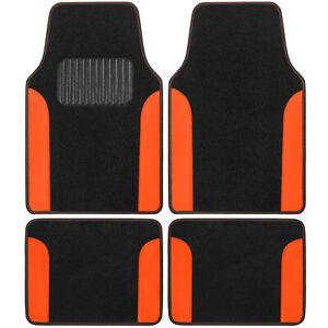 Car Accessory Set of Floor Mats, 4 Piece Carpet/Vinyl Liners Fits Truck Van SUV