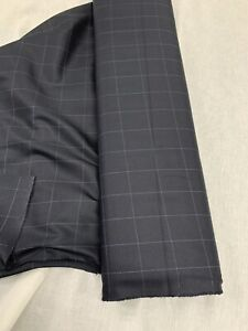 25 Metres Black & Grey Check Viscose Blend Fashion Fabric