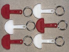 New Pound Shopping Trolley Keys,*6* Keys and split rings per pack +free postage