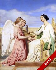 ANGELS VISITING ST SAINT CECILIA PAINTING BIBLE CHRISTIAN ART REAL CANVAS PRINT