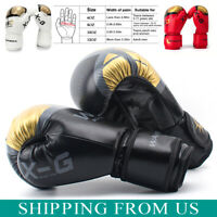 Kids Adults Boxing Gloves Punch Bag Sparring MMA Muay Thai Fight Training Gloves