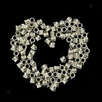 100Pcs Hollow Out Bail Hanger Dangle Spacer Beads Fitting European Bracelet