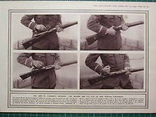 1915 WWI WW1 PRINT THE MAUSER & ITS CLIP FIVE POINTED CARTRIDGES GERMAN INFANTRY