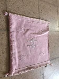 3 beautiful Moroccan handmade cactus silk pillow, decorative  Pillow covers,