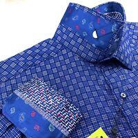 Robert Graham Paisley Check Print Long Sleeve Shirt $198