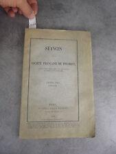 Séance Société française de physique 1901 Monoyer ophtalmologie optique médecine