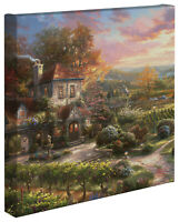 Thomas Kinkade Studios Wine Country Living 14 x 14 Gallery Wrapped Canvas
