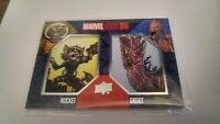 2017 Marvel Annual GROOT ROCKET Dual Patch Card Guardians Galxy Avengers Endgame