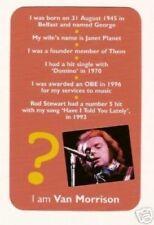 Van Morrison #M Pop Rock Music Card Have a Look!
