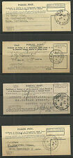 4 X PARCEL POST CERTIFICATE OF POSTING NORWOOD GIPSY HILL GRACECHURCH 1927/44