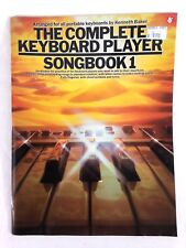 1986 COMPLETE KEYBOARD PLAYER SONGBOOK 1 by Kenneth Baker