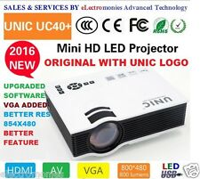 100% ORIGINAL UC40+ LED Projector 800x480p HDMI,VGA,SD,AV,USB, 3D(Red/Blue Only)