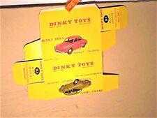 REPLIQUE BOITE RENAULT DAUPHINE 1958 DINKY TOYS